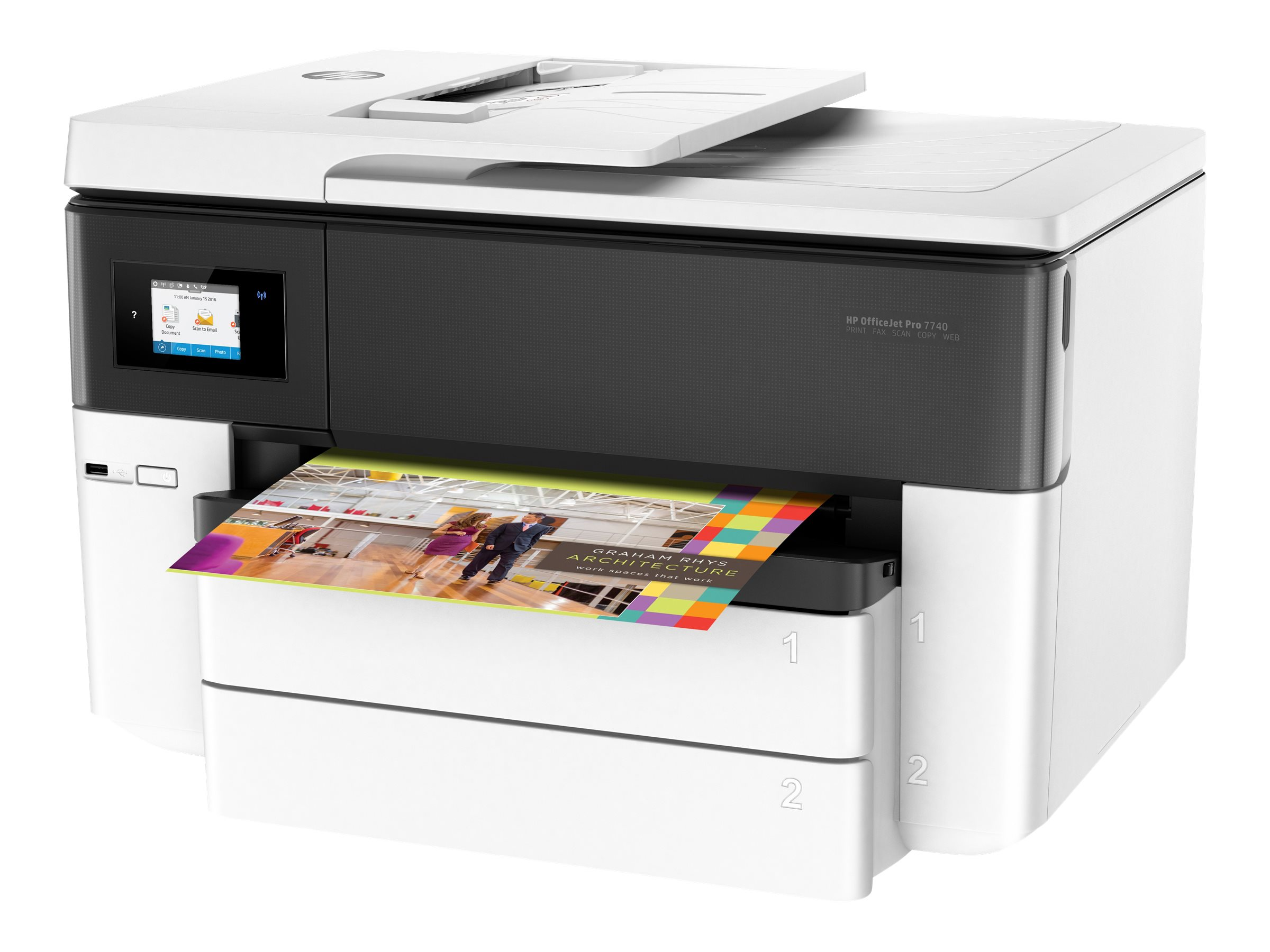 HP Officejet Pro 7740 All-in-One - multifunction printer - color
