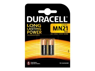 Piles & Chargeurs Duracell Security MN21 batterie - 2 - Alcaline