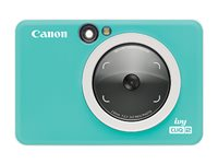 Canon ivy CLIQ2 Digital camera compact with photo printer 5.0 MP turquoise