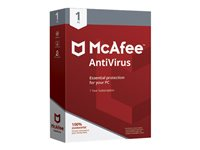 McAfee AntiVirus Box pack (1 year) 1 PC Win English United States