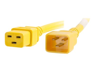 C2G 8ft 12AWG Power Cord (IEC320C20 to IEC320C19) Yellow Power cable