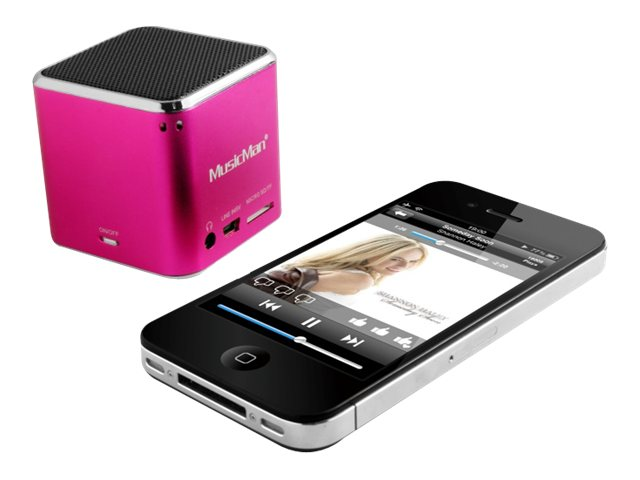 Technaxx MusicMan Mini Wireless Soundstation BT-X2 - Lautsprecher - tragbar - drahtlos - Bluetooth - pink