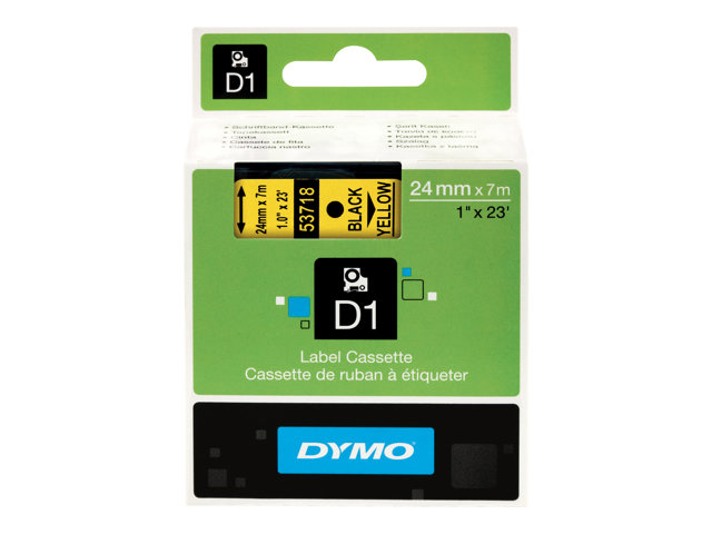 Image of DYMO D1 - label tape - 1 roll(s) - Roll (2.4 cm x 7 m)