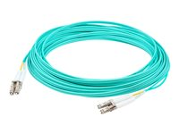 AddOn 4m LC OM4 Aqua Patch Cable Patch cable LC multi-mode (M) to LC multi-mode (M) 4 m