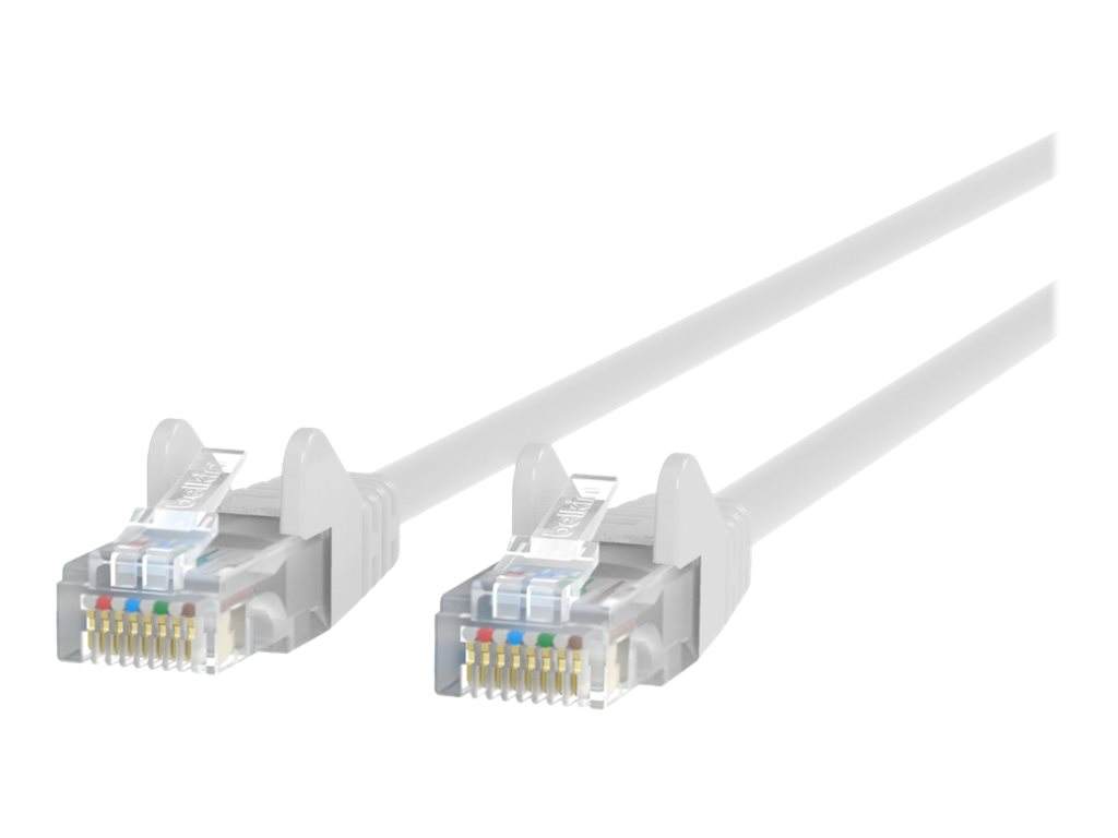 Belkin 14ft CAT6 Ethernet Patch Cable Snagless, RJ45, M/M, White - patch cable - 4.27 m - white - B2B