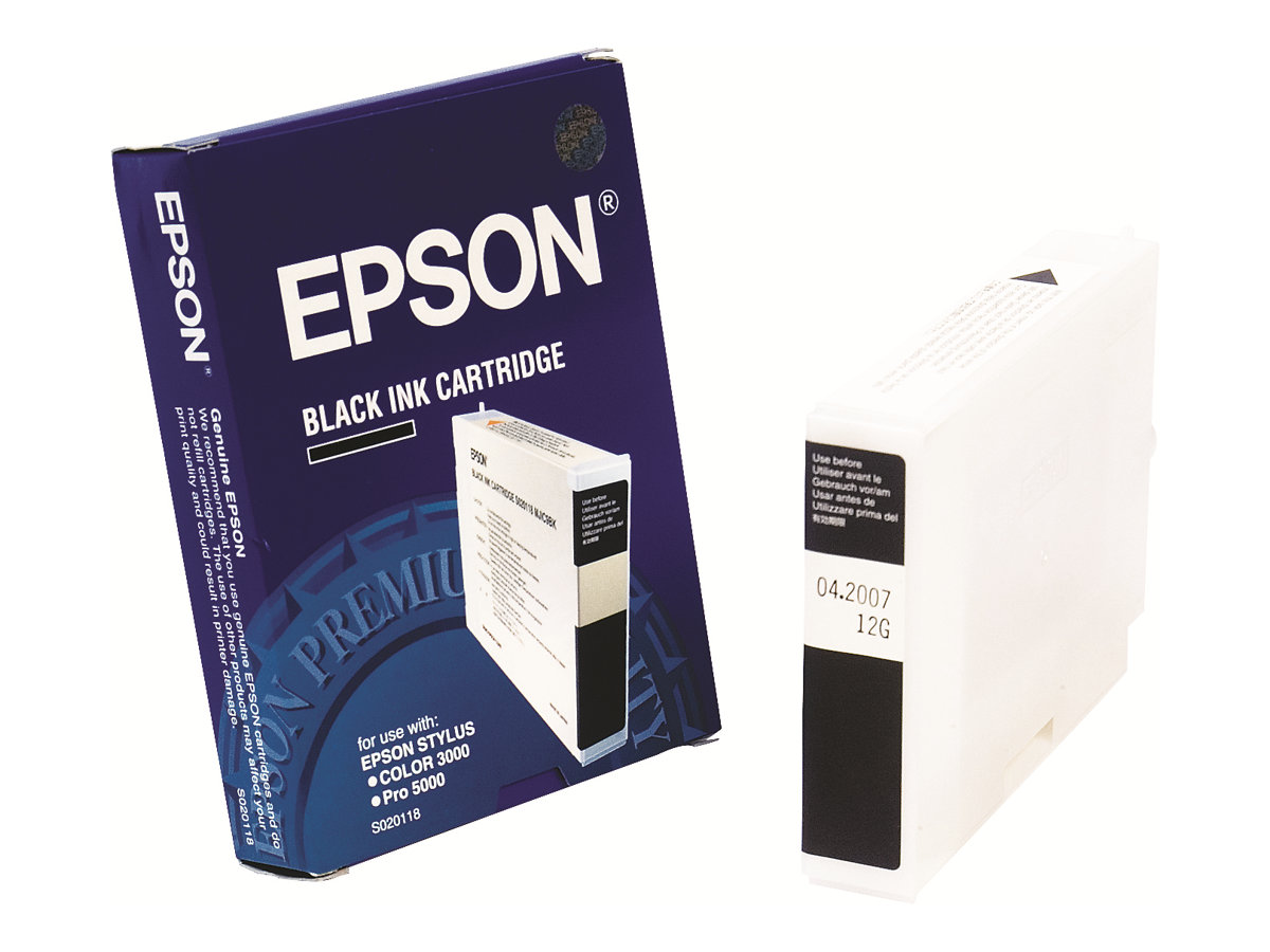 Epson - Schwarz - Original - Tintenpatrone - für Color Proofer 5000 II; Stylus Pro 5000; Stylus Color 3000, 3000PS