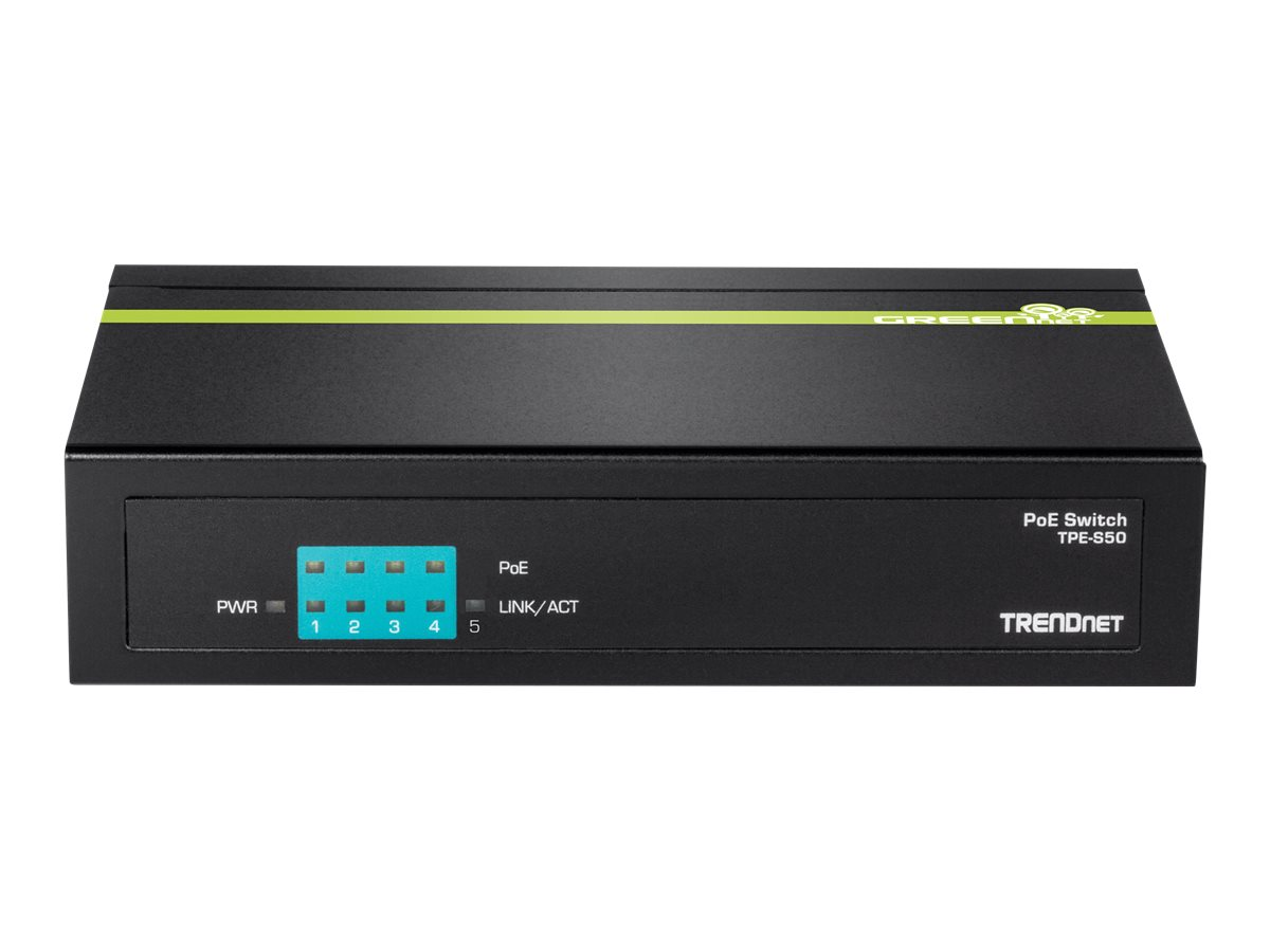 TRENDnet TPE S50 - switch - 5 ports - unmanaged