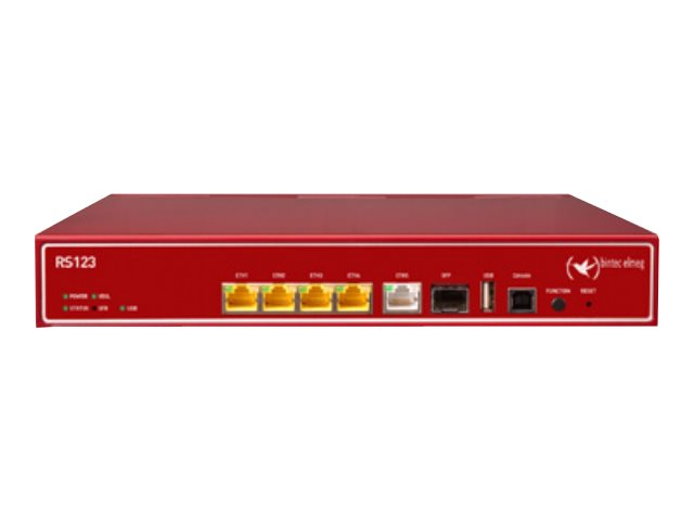 BinTec RS123 - Router - GigE - an Rack montierbar
