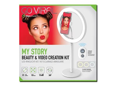Digipower MyStory Beauty & Video Creation Kit Lamp head LED DC