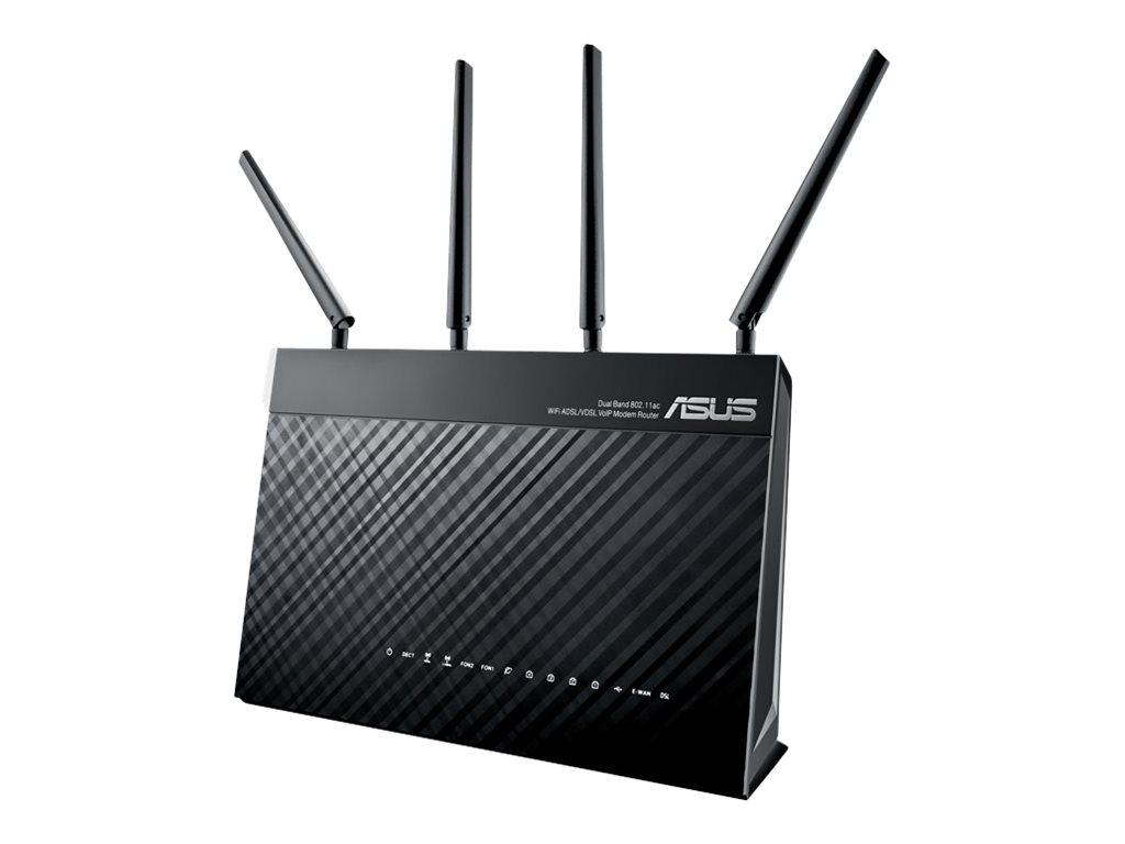 ASUS DSL-AC87VG - Wireless Router - DSL-Modem - 4-Port-Switch - GigE - WAN-Ports: 2
