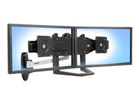 Ergotron Dual Monitor & Handle Kit - Mounting kit (handle, 2 mounting brackets, bow mounting arm) for 2 LCD displays