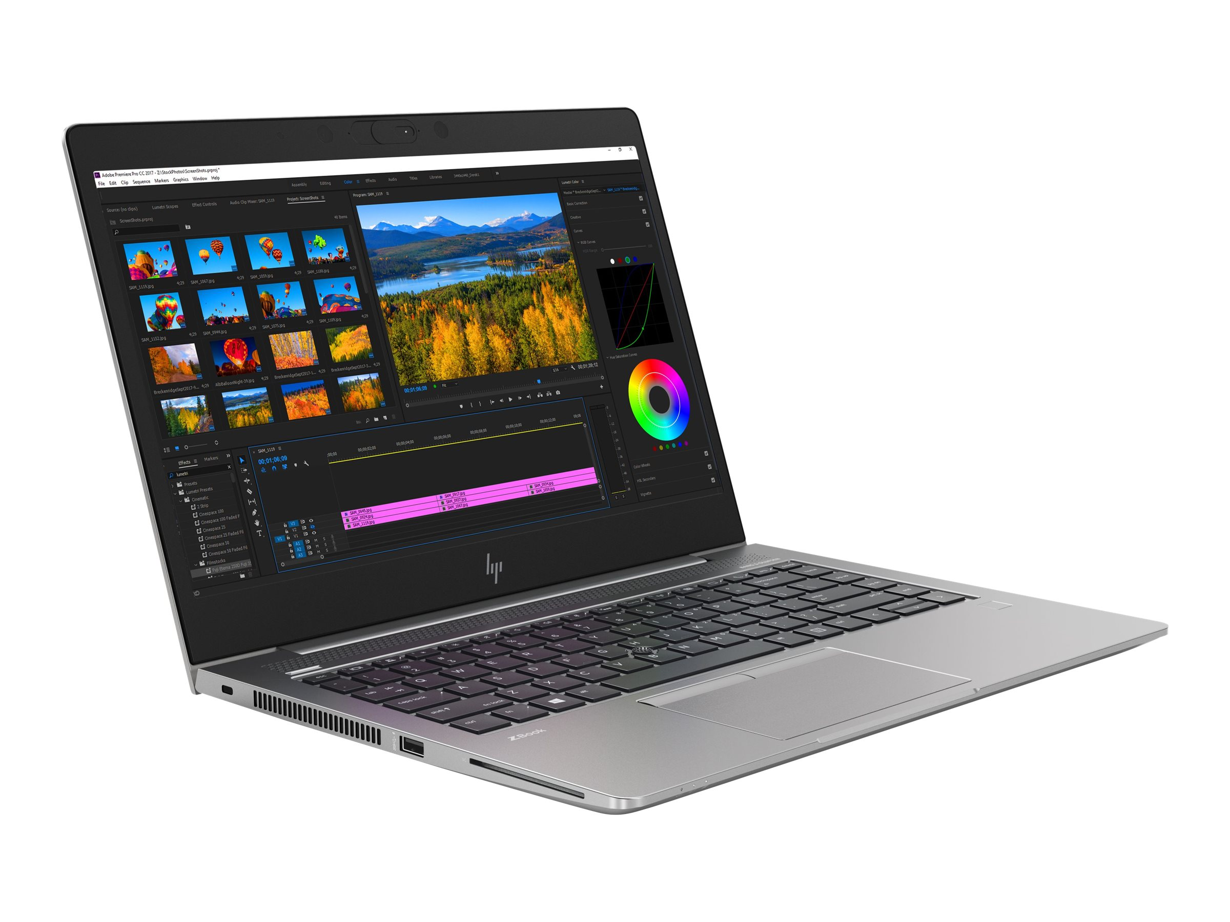 HP ZBook 14u G5 Mobile Workstation - Core i7 8550U / 1.8 GHz - Win 10 Pro 64-Bit - 8 GB RAM - 256 GB SSD NVMe - 35.6 cm (14