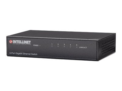 Intellinet Gigabit Ethernet Desktop Switch - Switch - 5 x 10/100/1000 - Desktop