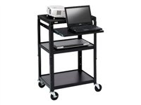 Bretford Basics Adjustable Projector Cart A2642NS Cart for projector / notebook steel