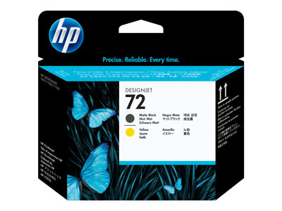 HP 72 - yellow, matte black - printhead