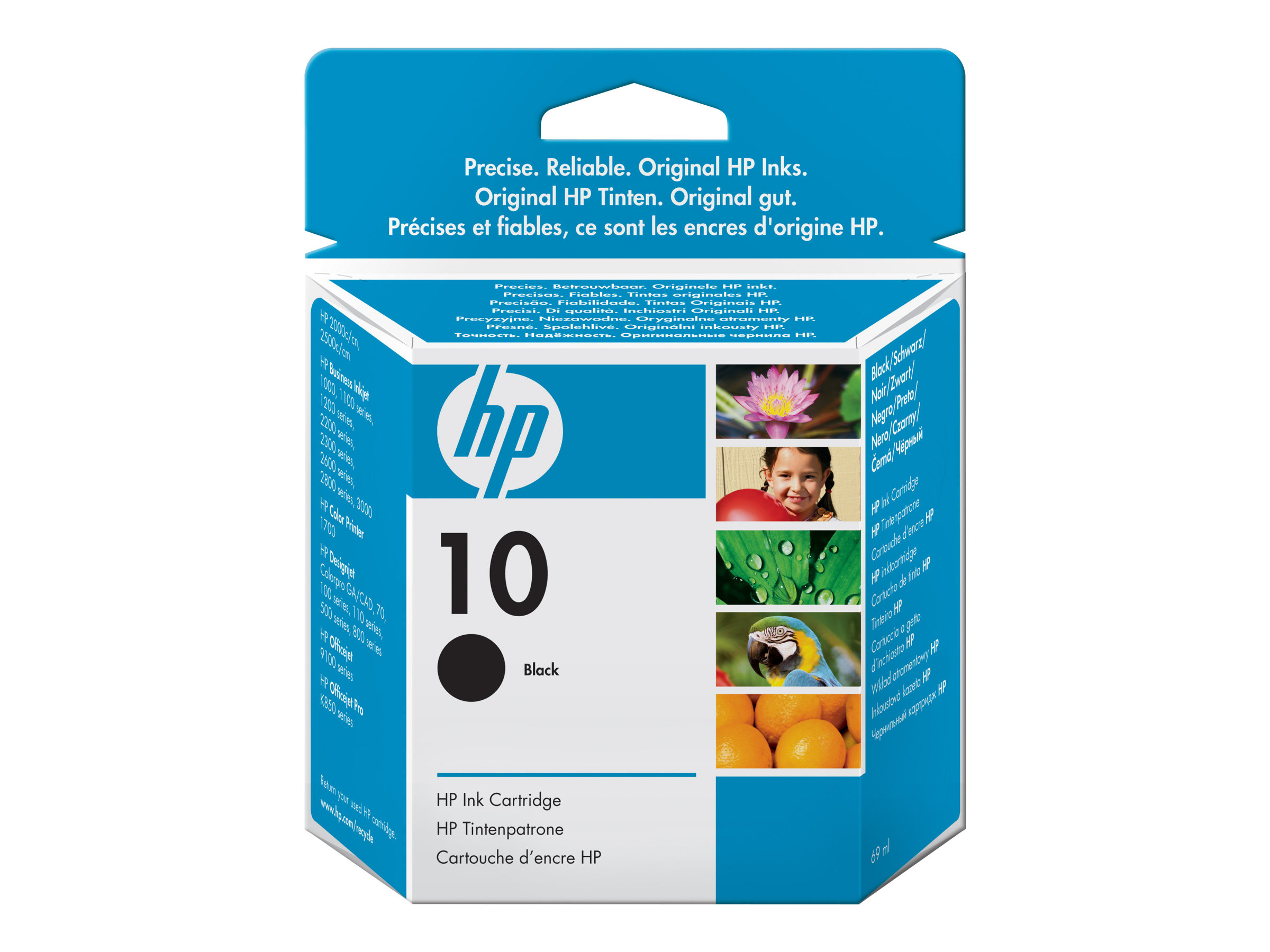 HP 10 - 69 ml - Schwarz - Original - Tintenpatrone - für Business Inkjet 1000, 1200, 2300, 2800; DesignJet 110, 500, 70, 820; Officejet Pro K850