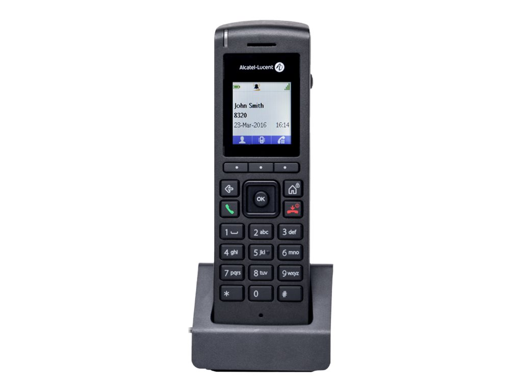 Alcatel-Lucent 8212 DECT - Schnurloses Digitaltelefon - IP-DECT\GAP - Schwarz