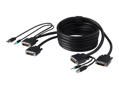 Belkin Secure KVM Combo Cable - keyboard / video / mouse / audio cable - TAA Compliant - 6 ft