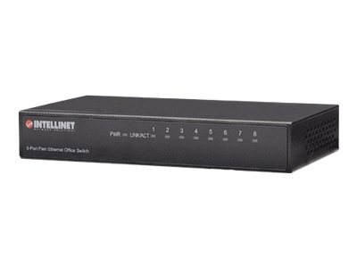 Intellinet Fast Ethernet Office Switch - Switch - 8 x 10/100 - Desktop
