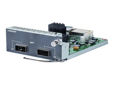 HPE 2-port QSFP+ Module - Module d'extension - 40Gb Ethernet x 2 - pour HPE 5510 2-port QSFP+ Module