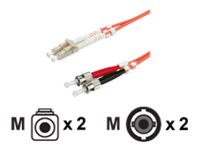 Roline LWL - Patch-Kabel - LC Multi-Mode (M) bis ST multi-mode (M) - 2 m - Glasfaser - 62,5/125 Mikrometer