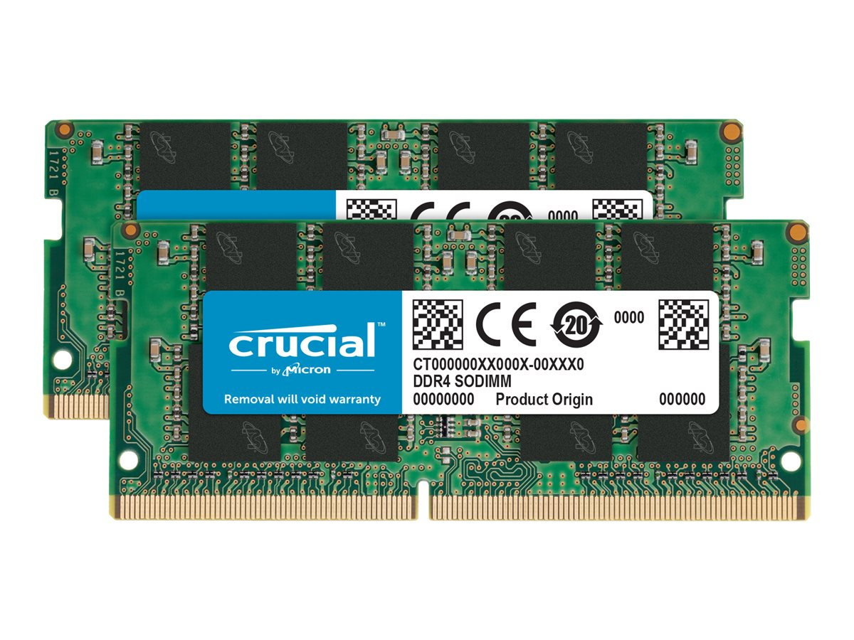 Crucial - DDR4 - 64 GB: 2 32 GB - SO DIMM 260-PIN - 3200 MHz / PC4-25600 - CL22