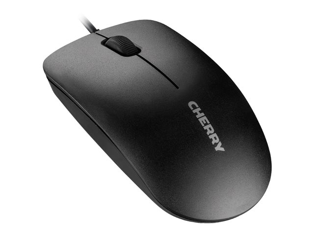 CHERRY MC 1000 - Mouse - right and left-handed - optical - 3 buttons - wired - USB - black