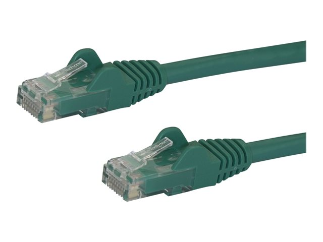 StarTech.com 7ft CAT6 Ethernet Cable, 10 Gigabit Snagless RJ45 650MHz 100W PoE Patch Cord, CAT 6 10GbE UTP Network Cable w/Strain Relief, Green, Fluke Tested/Wiring is UL Certified/TIA - Category 6 - 24AWG (N6PATCH7GN)
