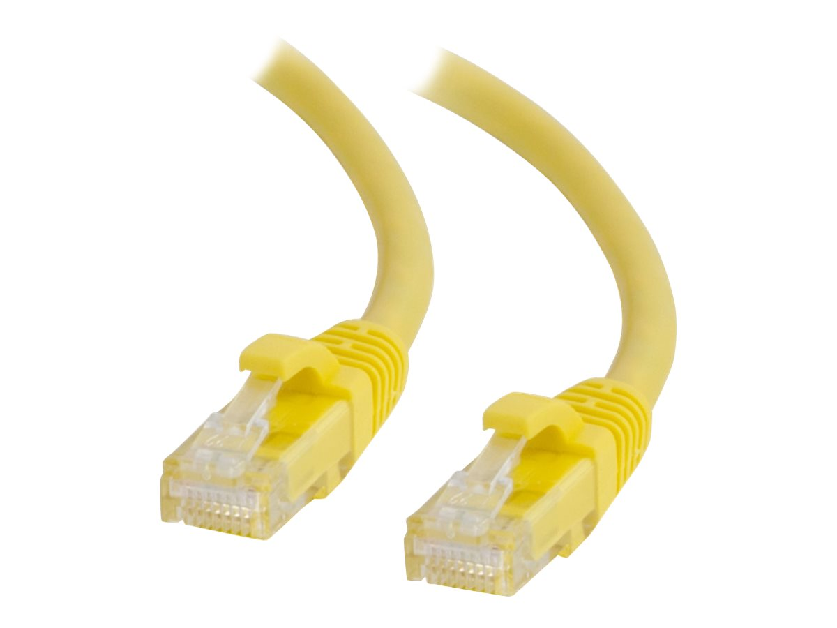 C2G 6IN Cat6a Snagless Unshielded (UTP) Network Patch Ethernet Cable-Yellow - patch cable - 15.2 cm - yellow