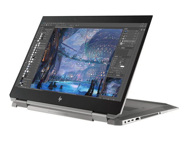 "HP ZBook Studio x360 G5 Mobile Workstation - Conception inclinable - Core i5 8300H / 2.3 GHz - Win 10 Familiale 64 bits - 16 Go RAM - 256 Go SSD NVMe, TLC - 15.6"" IPS écran tactile 1920 x 1080 (Full HD) - Quadro P1000 / UHD Graphics 630 - Wi-Fi, Bluetooth - kbd : français"