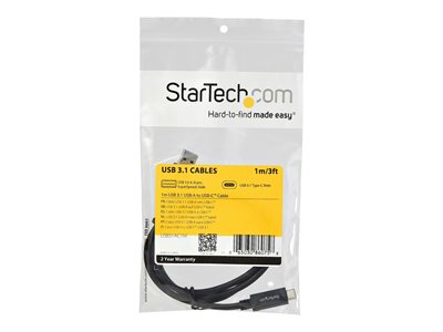 StarTech.com 3 ft 1m USB to USB C Cable - USB 3.1 10Gpbs - USB-IF Certified (USB31AC1M)