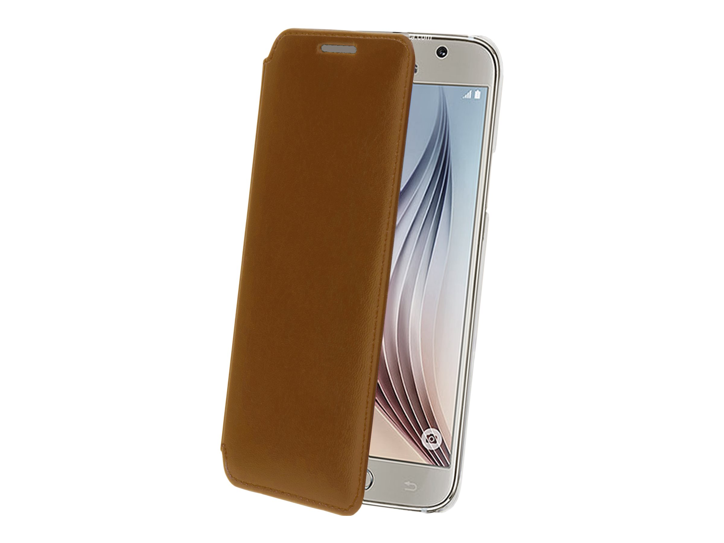 Muvit Made in Paris Crystal Folio - Protection à rabat pour Samsung GALAXY S6 - brun