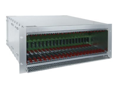Black Box ServSwitch DKM HD Video and Peripheral Matrix Switch Modular Housing 21-Slot Chassis with Power Supply and Re…