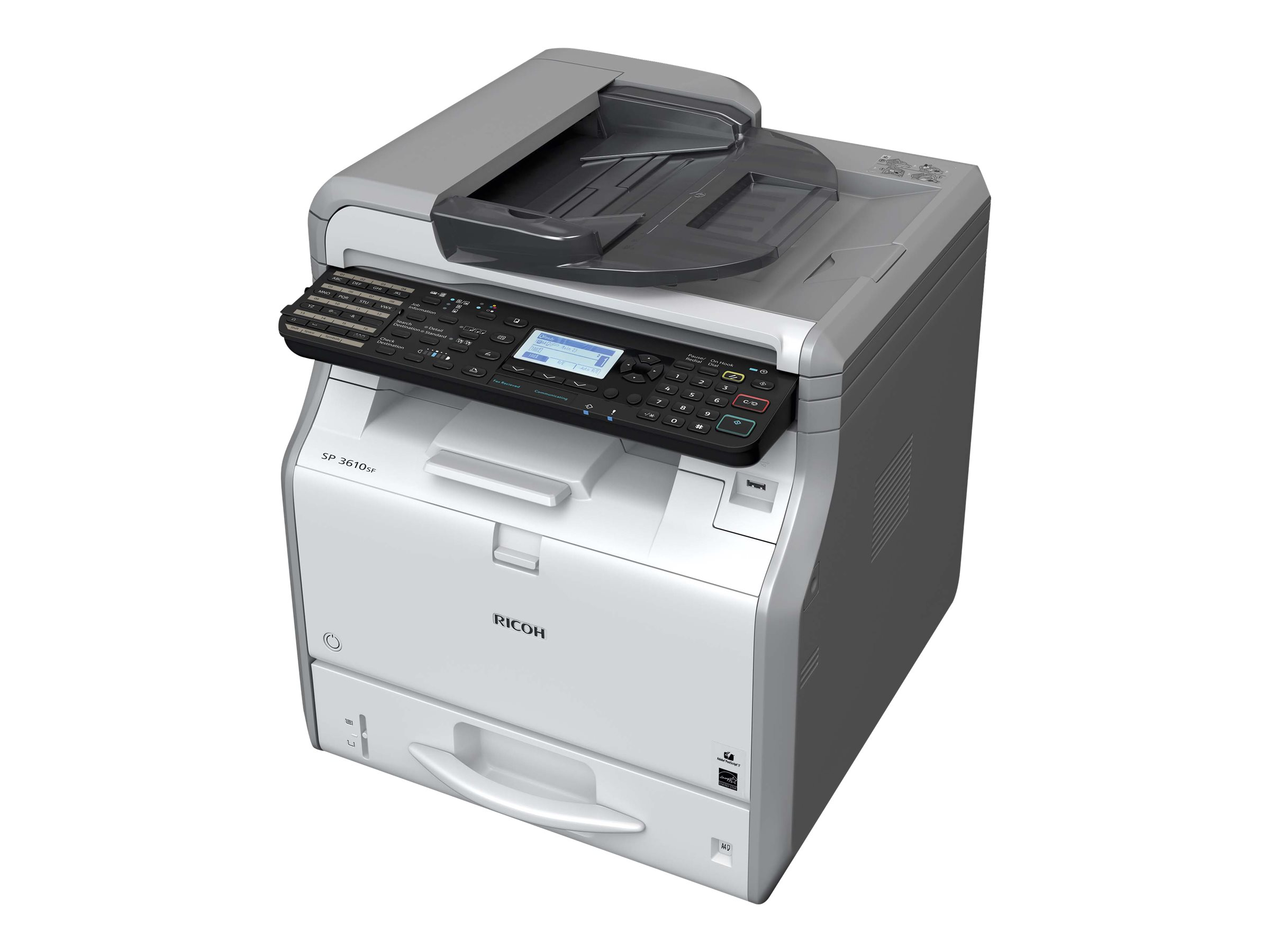 Ricoh SP 3600SF - Multifunktionsdrucker - s/w - LED - A4 (210 x 297 mm) (Original) - A4 (Medien)