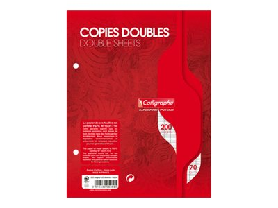 Calligraphe 7000 - A5+ - Copies doubles - 17 x 22 - 200 pages - Grands carreaux