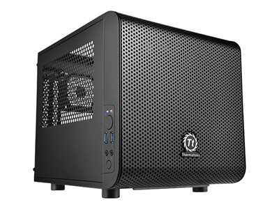 Thermaltake Core V1 Minitower Mini ITX Ingen strømforsyning Sort