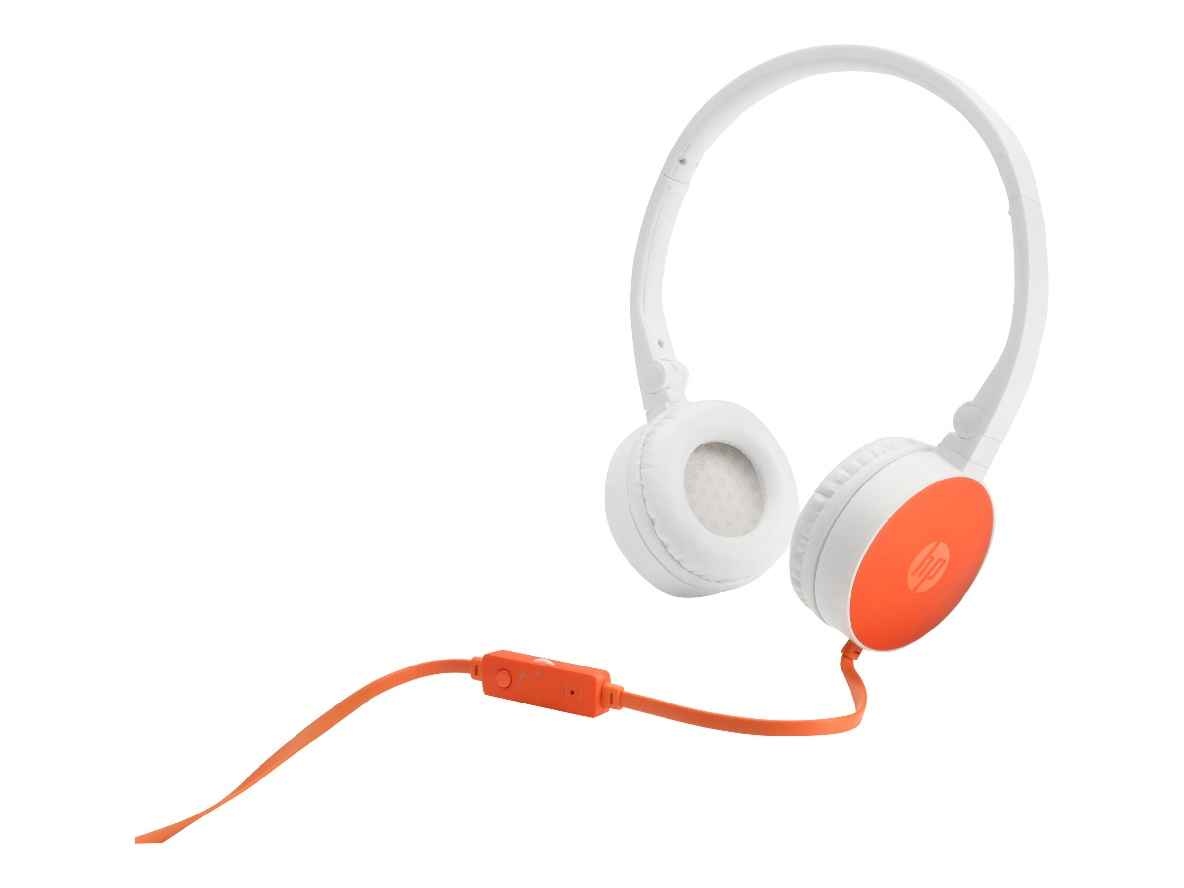 HP H2800 - Headset - On-Ear - verkabelt - weiß, orange - für OMEN X by HP 17; HP 17; ENVY x360; Pavilion Gaming; Pavilion x360; Spectre x360; x360