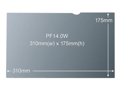 3M PF14.0W - Notebook-Privacy-Filter - 35.6 cm (14