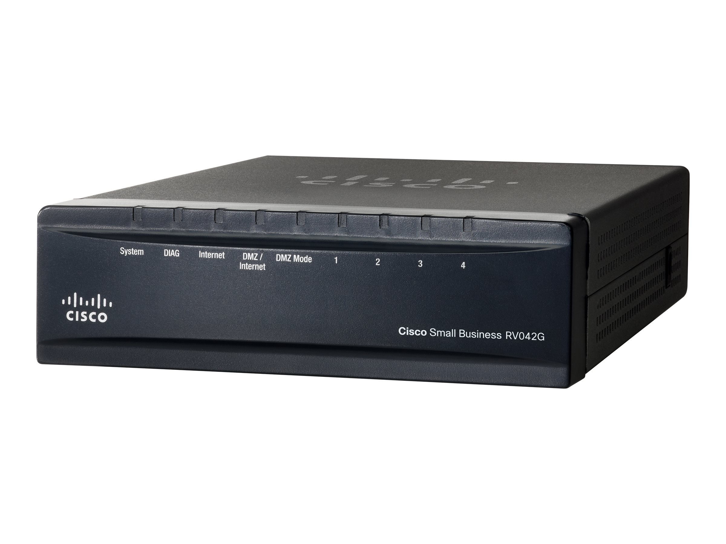 Cisco Small Business RV042G - Router - 4-Port-Switch - GigE - WAN-Ports: 2
