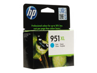 HP 951XL - High Yield - cyan - original - Officejet - ink cartridge - for Officejet Pro 251dw, 276dw, 8100, 8600, 8600 N911a, 8610, 8615, 8616, 8620, 8625, 8630