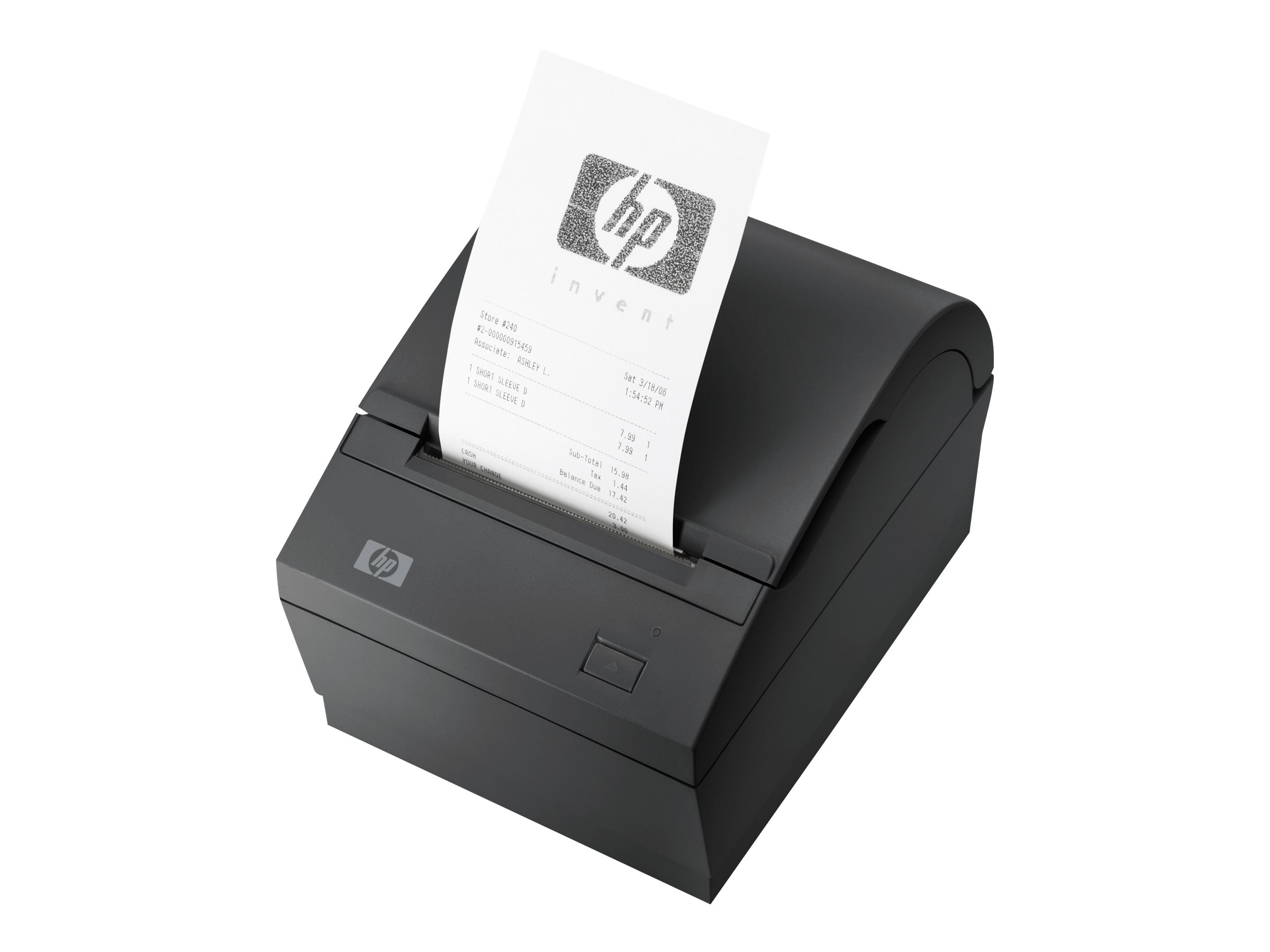 HP Single Station Thermal Receipt Printer - Belegdrucker - zweifarbig (monochrom) - Thermopapier - Rolle (0,8 cm) - 203 dpi