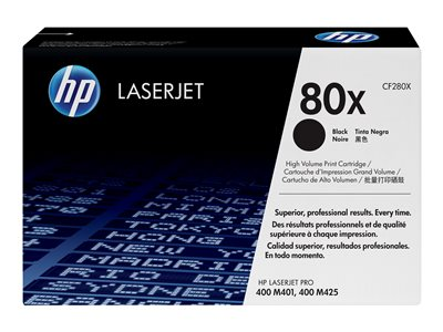 HP 80x - High Yield - black - original - LaserJet - toner cartridge (CF280X)