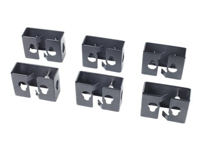 APC Cable Containment Brackets with PDU Mounting - Supports de montage pour alimentation - noir - pour NetShelter SX