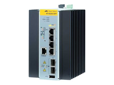 Allied Telesis AT IE200-6FP Switch managed 4 x 10/100 (PoE+) + 2 x Gigabit SFP