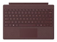 Microsoft Surface Pro Signature Type Cover - Keyboard - with trackpad, accelerometer - backlit - English - North American layout - burgundy - commercial - for Surface Pro (Mid 2017), Pro 3, Pro 4