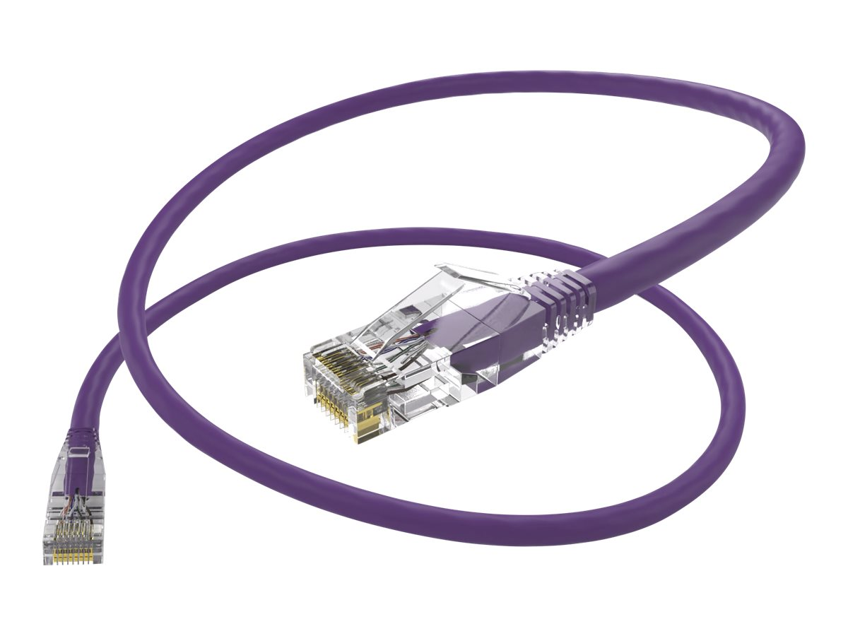 Oncore ClearFit patch cable - 2.1 m - purple
