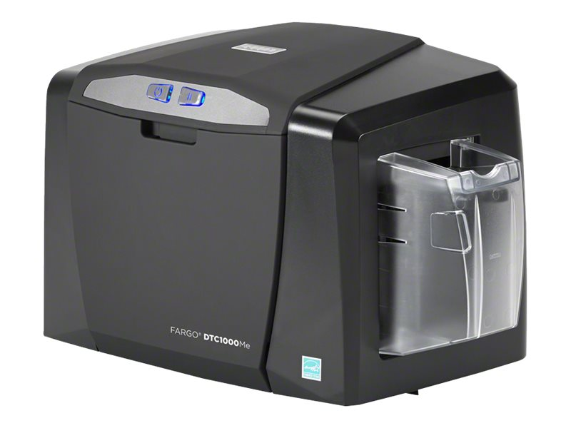 FARGO DTC 1000ME - plastic card printer - monochrome - dye sublimation/thermal resin
