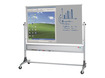 MooreCo Platinum Mobile Reversible Projection Plus Markerboard