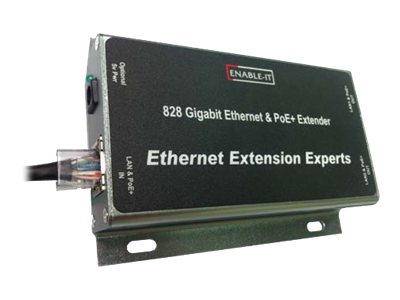 Enable-IT 828 Gigabit Ethernet&PoE+Extender Repeater GigE up to 400 ft