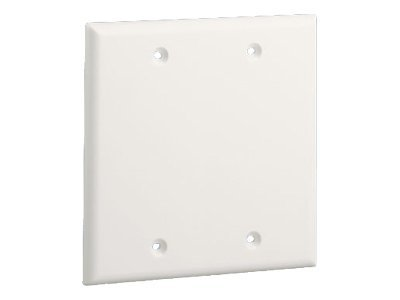Panduit Pan-Way Classic Series Screw-On Double Gang Blank Faceplate - faceplate blank cover